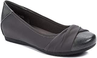 Womens Mitsy Closed Toe Slide Flats, Dark Grey, Size 5.5