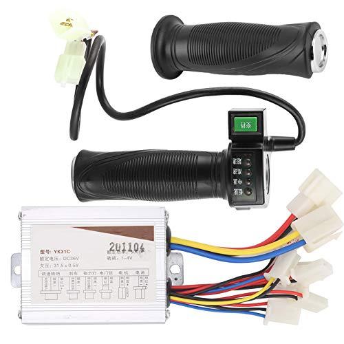 Alomejor Juego de Controlador de Scooter eléctrico 36V 500W Controlador de Velocidad y empuñadura del Acelerador de 4 velocidades para Scooter eléctrico de Bicicleta eléctrica