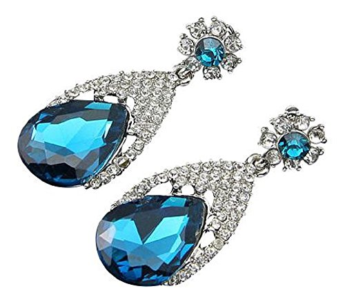 Diamantes de imitación pendientes de cristal de la manera pendientes de aro...