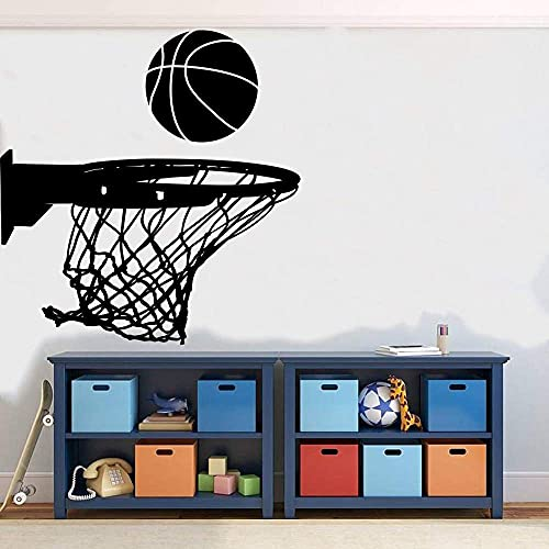 Etiqueta De La Pared Etiqueta De La Pared Etiqueta De La Canasta De Baloncesto Baloncesto Habitación De Los Niños Dormitorio Decoración Del Hogar 76X79 Cm