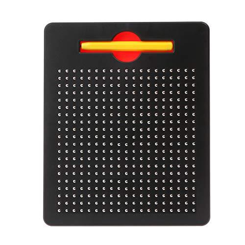 Qiuxiaoaa Kinder Baby Magnetic Steel Ball Schreibtafel Schreiben Reißbrett Magnetische Kugel Sketch Pad Tablet Pädagogische Kinder Spielzeug Schwarz