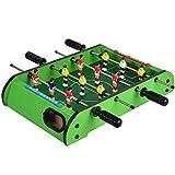 HAODGUO Juego de futbolín de madera de lujo, juego divertido para la familia, para interiores y exteriores, incluye 12 hombres, 2 bolas de regalo excelente
