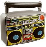 Partyrama 3x Hinchable Blow Up Boom Box Reproductor de música Radiocasete Novedad Disfraz Prop