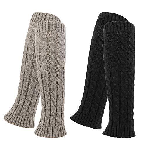 QKURT 2 Pares Calentadores,Legwarmers Calentadores de piernas de lana
