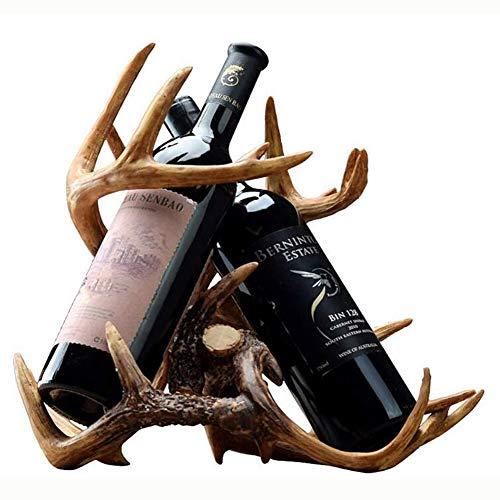 CLX Am Weinregal, Halter Weingläser DIE Richtung Suspended In Style Locker Wein Im Harz zu Fuß enthält Zwei Flaschen Rotwein,35 * 32cm