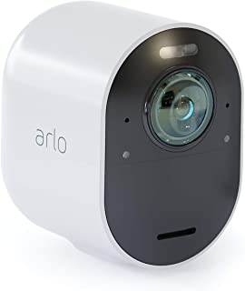 Arlo Ultra - 4K UHD Wire-Free Security Add-on Camera |Indoor/Outdoor with Color Night Vision, 18° View | Requires an Ultra...