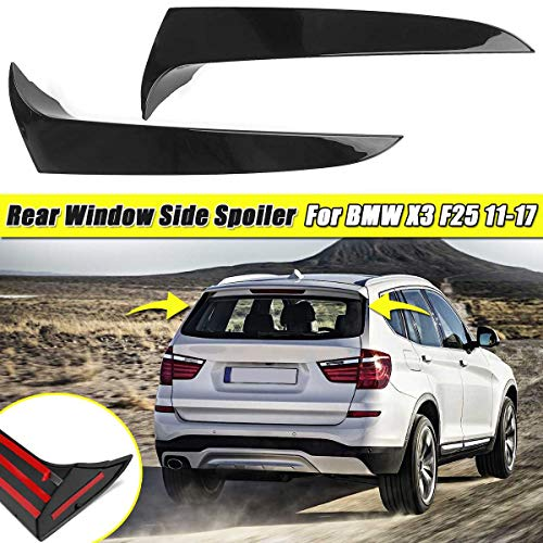ASDNN 2 Piezas Spoiler Lateral Trasero Wing Roof Stickers Trim Cover para BMW X3 F25 2011 2012 2013 2014 2015 2016 2017