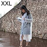 para el Impermeable Simple SyFashionable Masculino y Femenino Estudiantes Solo Transparente Esmerilado Impermeable (Rosa XXL) (Color : Blue)