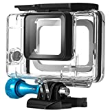 MiPremium Waterproof Housing Case for GoPro Hero 7 6 & 5 Black. Underwater Protective Diving Shell Cage Mount Accessories Aluminium Screw & Quick Release Buckle Accessory for Hero7 Action Camera