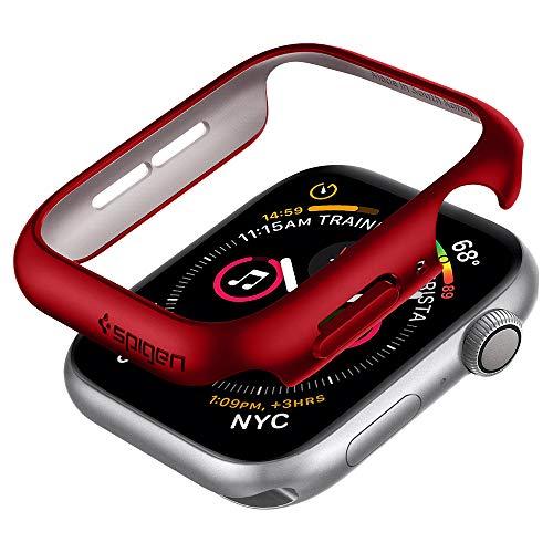 Spigen Thin Fit Kompatibel mit Apple Watch Hülle für 40mm Serie 5 / Serie 4 - Rot