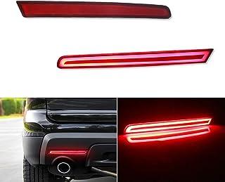 JJZXZQ Red Lens Bumper Reflectors Rear Fog Lights Compatible Ford Explorer 2011 2012 2013 2014 2015