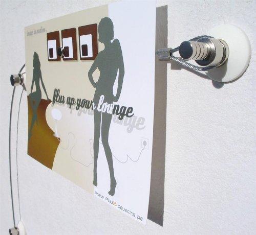 Fotoleine, Fotoseil, Foto-Stahl-Seil in 2 Meter mit 20 Magneten