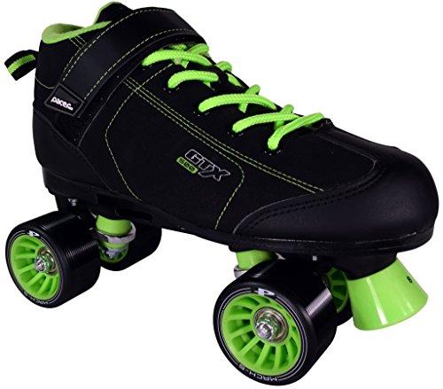 Pacer GTX-500 Black and Lime Roller Skates (Mens 7/Ladies 8)