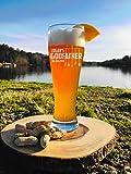 Cadeau de parrain personnalisé, cadeau de parrain, verre à bière gravé de Pilsner 453,6 g, Will You Be My Parrain Cadeau de baptême, pour le parrain