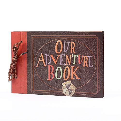 Álbum de fotos Fesjoy, 40 folhas, nosso livro de aventuras faça você mesmo, álbum de fotos com videira 29 x 19 cm, para aniversário de família, casamento, viagem, crescimento de bebê