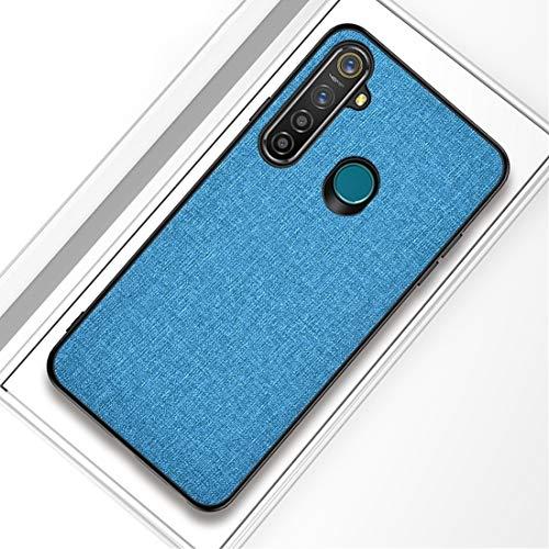 CUILILISWSB Carcasa de telefono For Cllozd OPPO Realme 5 Caja Protectora de la Textura de la PC + TPU Pro Prueba de Golpes de Tela (Negro) (Color : Blue)