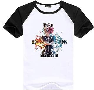 My Hero Academia T-Shirt, Anime MHA Short-Sleeve Crewneck T-Shirts for Lovers Men and Women