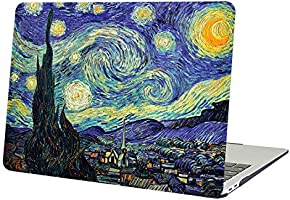AUSMIX MacBook Air 13 Inch Case, Creative Famous Paintings Design Cover Hard Plastic Rubberized PC Chic Shell for...