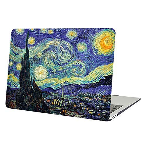 YMIX  Plastic Cover Snap on Hard Protective Case for MacBook Air 13'(A1466 & A1369) , 01 Starry Night