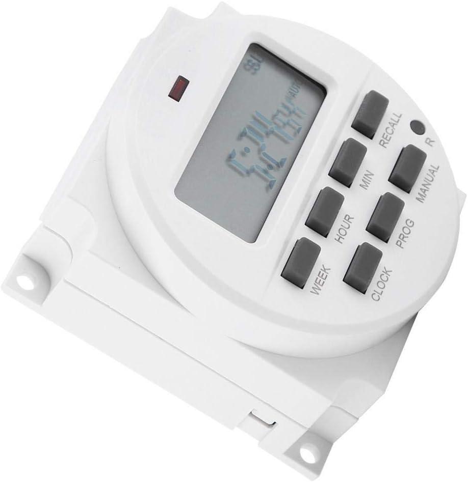 KSTE Temporizador 12V, Temporizador Digita 12V, 12V Digital Temporizador eléctrico interruptor de control inteligente programable duradero
