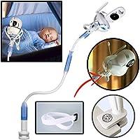 FlexxiCam | Soporte universal para monitor de bebé con correa | Soporte para cámara de bebé flexible | Sin perforación | Un soporte de monitor más seguro para su bebé