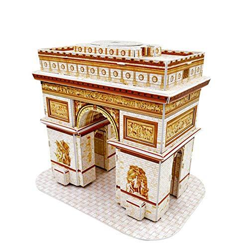 Creativo DIY Arquitectura Clásica Francia Arco del Triunfo 3D Papel Puzzle Niños Puzzle Educación Juguetes Regalos