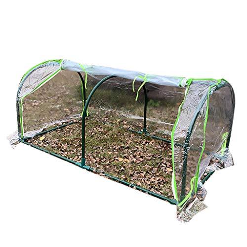 Serres de Jardin Tunnel Tunnel Greenhouse - Tente en PVC Transparente pour Couverture végétale de Jardinage avec Couverture en PVC et Fleurs Tomate