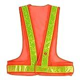 SULWZM Safety Vest 16 LED Replaceable Battery Light up Reflective Work Vest High