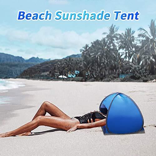 Thinktoo Portable Beach Sunshade Tent Lightweight Sun Shade UV Quality for Outdoor Beach