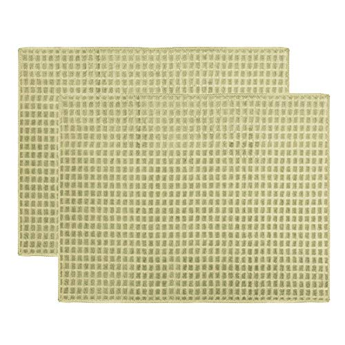ULABLE Dish Drying Mat, Microfiber Dry Pad, Quick-Drying Dish Drainer Board Mat for Kitchen Counter-top Tabletop Accessories, Machine Wash, 20 X 15 inch, 2-Pack (Beige)