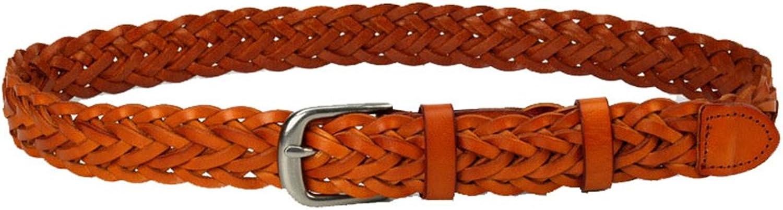 Canvas Belt Women's Belt Knitted Leather Minimalist Jeans Waist Belt Lady's Casual Belt Decorative Leather Belt