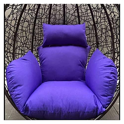 XiYou Mobili da Giardino Cuscini per sedie Cuscino per Sedia a Uovo, Cuscini per Sedia Amaca, Senza Supporto Cuscino per Sedile Altalena in Tinta Unita Nido Spesso con Cuscino Cortile