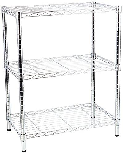 Honey-Can-Do SHF-01903 Adjustable Storage Shelving, 250-Pounds Per Shelf, Chrome, 3-Tier, 24Lx14Wx30H