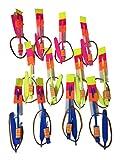 Helicóptero con luces LED, juguete volador de flecha o cohete para fiestas divertido, regalo, lanzadera elástica, pack de 20