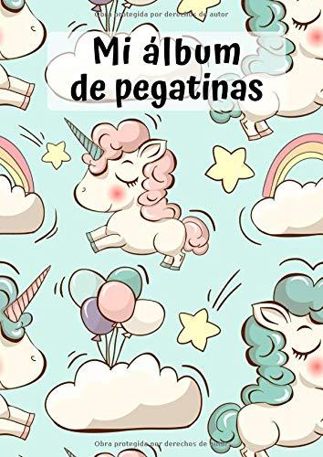 Mi álbum de pegatinas: Unicornio 3 | 30 Páginas | en Blanco | Sin Papel de Silicona | Idea de Regalo (Spanish Edition)