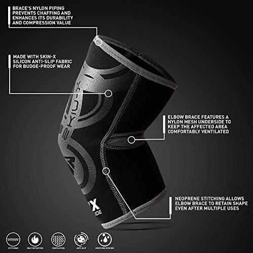 RDX Ellbogenbandagen Ellbogenschützer Compression Unterstützung Stützbandage Ellenbogen (Das Paket Enthält Einzelstück) - 4