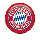 Amscan 4133501 - FC Bayern München Folienballon, 1 Stück, mit Helium befüllbar, Partydeko für die Feier beim Fanclub oder die Fußballparty, Geschenk für Bayernfan, runder Luftballon