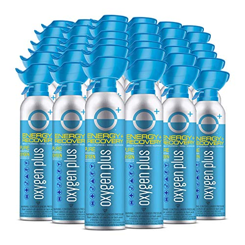 Oxygen Plus – O+ Biggi 36 Pack | Portable Oxygen Can | 99.5% Pure O2 | Natural Wellness Supplement to Boost Energy & Recovery | 50+ Uses Per 11 Liter Canister