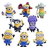 EASTVAPS 8pcs Anime Minion Figurine Jouet Enfants Ornements De Cadeau