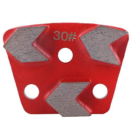 Trapeziumvormige diamant, 3-delige trapeziumvormige diamant-slijpschijf voor vloeren # 30 Grit Metal Bond Scraper