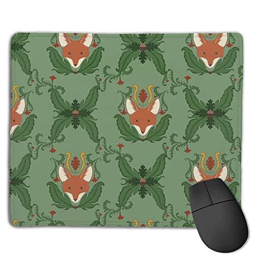Alfombrilla de ratón Fox Cute Face Seamless Art Rectangular Mousepad Antideslizante Gaming Mouse Pad Mouse Mat 25X30CM