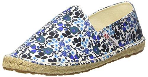 Superga Damen 4524-Fabricfanw Espadrilles, Flowers Blue, 36 EU