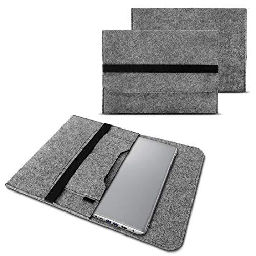 NAUC Notebook Tasche Hülle kompatibel für Lenovo Yoga C930 900 900 S 910 510 520 530 710 720 730 13,3-14 Zoll Filz Sleeve Schutzhülle Filz, Farben:Grau