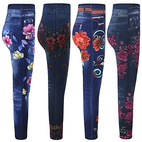 JIAYOUA Damen Skinny High Waist Jeans Stretch...