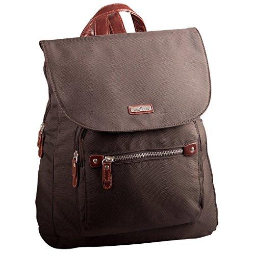 TOM TAILOR Rucksack Damen RINA, (braun 29), 28x33x12 cm, TOM TAILOR Rucksackhandtasche, Damenrucksack, Handtasche