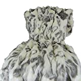 Thomas Collection Ivory Faux Fur Throw Blanket & Bedspread - Rabbit...
