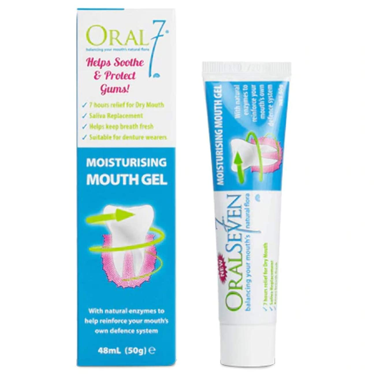 遊びます夏スプリットオーラル7 マウスジェル 50g 4種の天然酵素配合!保湿効果は最大7時間!お口の乾燥対策に 口腔保湿ジェル 口臭予防 口腔ケア