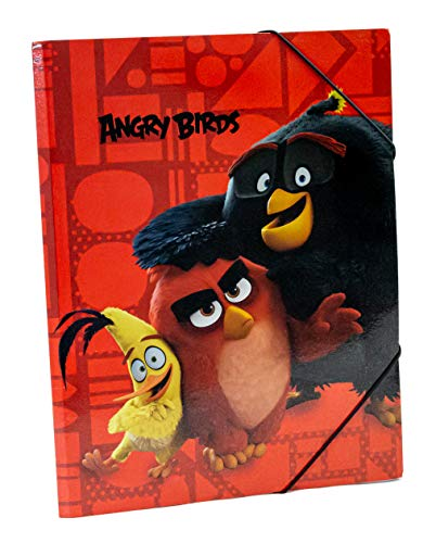 Angry Birds Gummizugmappe DIN A3 Red, Chuck & Bomb Eckspanner Sammelmappe Ordnungsmappe Schule 55ro16065