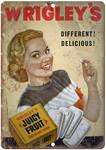 Decoratieve Vintage Retro Metalen Teken Wrigley'S Sappige Fruit Kauwgom Vintage Ad 10
