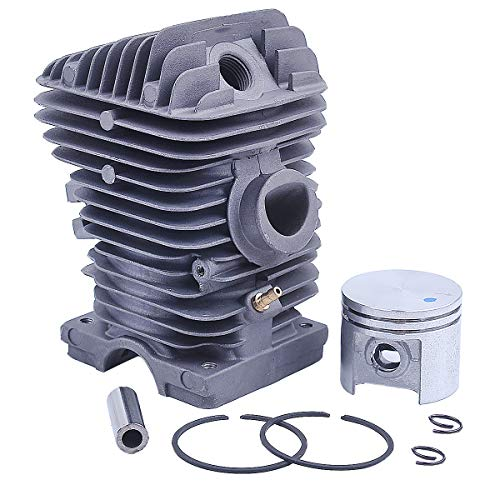 Adefol 40mm Cylinder Piston Kit for Stihl MS210 021 MS 210 Chainsaw with Crank Bearing Oil Seals Engine Pan Needle Bearing Spark Plug Replacement Parts for 1123 020 1216 11230201216